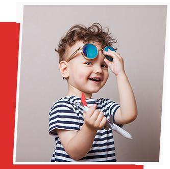 kind mit sonnenbrille von optic schulte